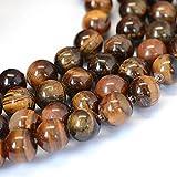 Perlin Perlas de ojo de tigre de 8 mm * * * * Grado A * Piedra natural redonda perlas perlas perlas con agujero para enhebrar gemas ojo de tigre Beads G70