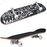 Asdfax Skateboard débutant 31,5 Pulgadas, monopatín con rodamientos ABEC-7 y Ruedas de PU, Apto para Adultos, Adolescentes y niños Principiantes, Regalo de cumpleaños Ideal-mi