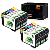 JARBO Remanufactured Ink Cartridge Replacement for Epson 200XL 200 XL T200XL to use with XP-200 XP-300 XP-310 XP-400 WF-2520 WF-2530 WF-2540 Printer (4BK, 2C, 2M, 2Y) 10 Packs