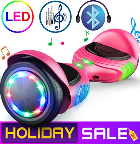 TOMOLOO Hoverboard with Bluetooth Speaker and LED...
