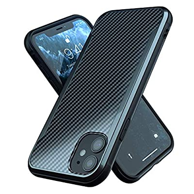 iPhone 11 Case | Shockproof | 12ft. Drop Tested | Carbon Fiber Case | Wireless Charging | Lightweight | Scratch Resistant | Compatible with Apple iPhone 11 - Black