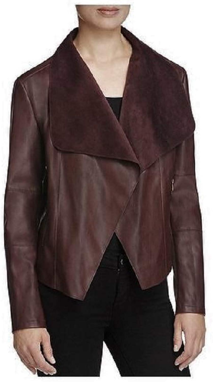 Bagatelle Women's LongSleeve FauxLeather Draped Jacket