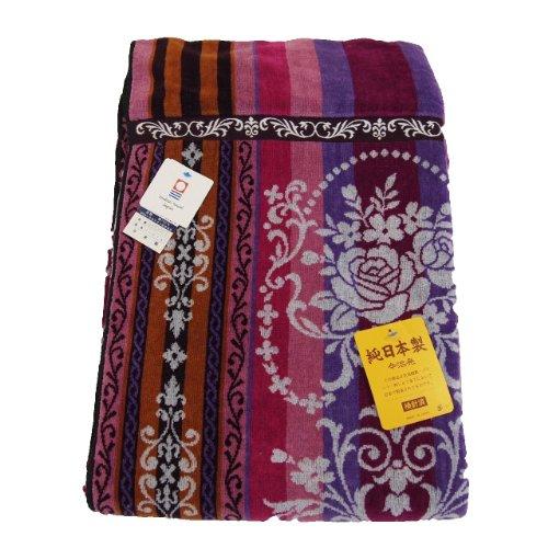 imabari towel japan 今治タオルブランド認定品 タオルケットシングルサイズ 厚手タイプ レッド 日本製