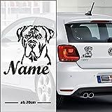 Cane Corso | Hund | Wunschtext | Auto Aufkleber | pickNstick | mit Name