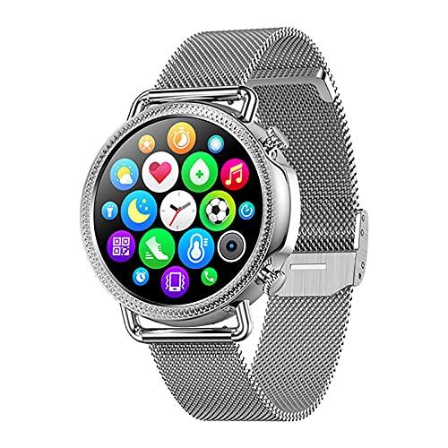 ZGZYL V25 Ladies Smart Watch Pedómetro Actividad Rastreador Reloj Bluetooth Smart Bluetooth Pulsera con Monitoreo De Oxígeno/Ritmo De Corazón para El Reloj Inteligente De iOS Android,D