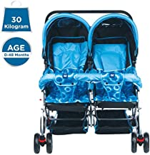 Mee Mee Baby Pram with Adjustable Seating Positions and Reversible Handle (Royal Blue)