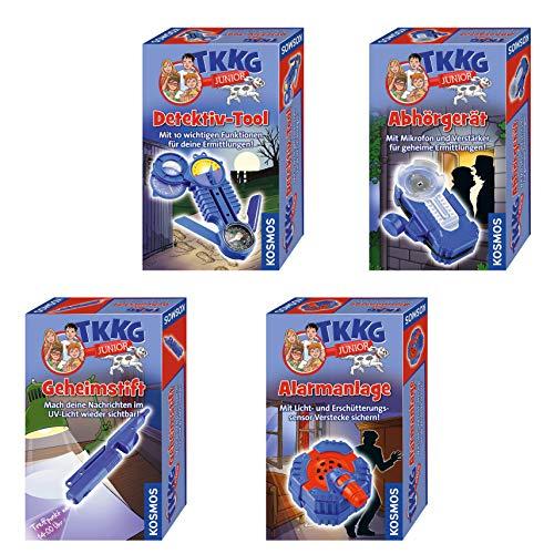 Kosmos TKKG Junior - großes Detektiv-Set mit Alarmanlage, Abhörgerät, Detektiv-Tool und Geheimstift