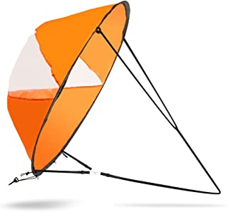 VGEBY 42inch Wind Sail, Wind Paddle Fold-able Downwind Sail for Kayaks, Canoes, Inflatable Boats, Paddle Board