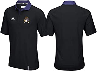 adidas East Carolina Pirates NCAA Men's Sideline Climachill Performance Black Polo Shirt