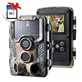 """【2020】Crenova 20MP 1080P Trail Camera Include 32GB SD Card 47 pcs 940nm IR LEDs and IP66 Waterproof Game Hunting Scouting Cam with 2.4"""" LCD 120°Detecting Range for Wildlife Day Night Vision Monitoring"""