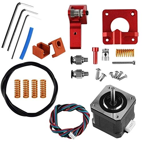 Apricot blossom 3D Printer Accessories 3 Extruder CR-10 Extruder 42 Stepper Upgraded Motor Kit Aluminum 3D Printer Extruders Spring Double Pulle (Color : Red)