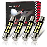 BRISHINE 29MM 6614F 6641 6614 6612F 6615F F30-WHP TS-14V1CP LED Bulbs Extremely Bright 6SMD 4014 Chipsets for Car Interior Sun Visor Vanity Mirror Lights, Xenon White(Pack of 4)