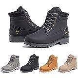 Botas Mujer invierno Botines Nieve Zapatillas Trekking Calentitas Boots Cordones Zapatillas Planas AntideslizanteCasuales Negro Talla 39 EU