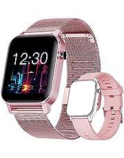 Smartwatch met zuurstofbloeddruk, bloeddruk, hartslag, waterdicht, IP68, voor dames en heren, voor Android iOS