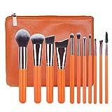 Set de pinceles de maquillaje Onkessy Premium Synthetic Professional Foundation Polvos sueltos Blush Brush Sombra de ojos Eyebrow Fan Brush 15pcs Kit de cepillos