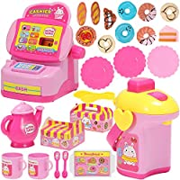 25-Piece Geyiie Play Kitchen Toys Play Set for Todders