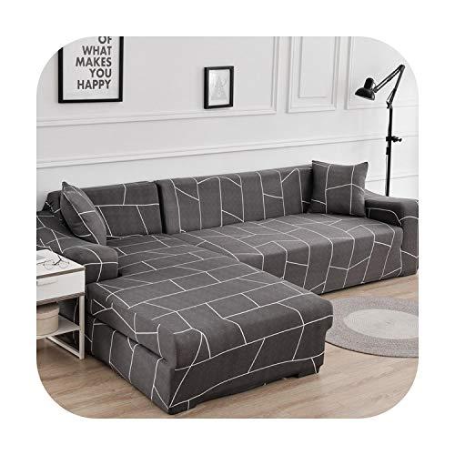 Sofacover - Funda de sofá esquinero en forma de L elástica y ajustada para sofá o sofá en forma de L, 1, 4 seat 235-185cm