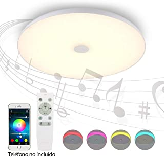 POPP® Plafon inteligente iLamp smart home Bluetooth LED luz de techo con altavoz BASS serie ZN-YX (36w-40cm)
