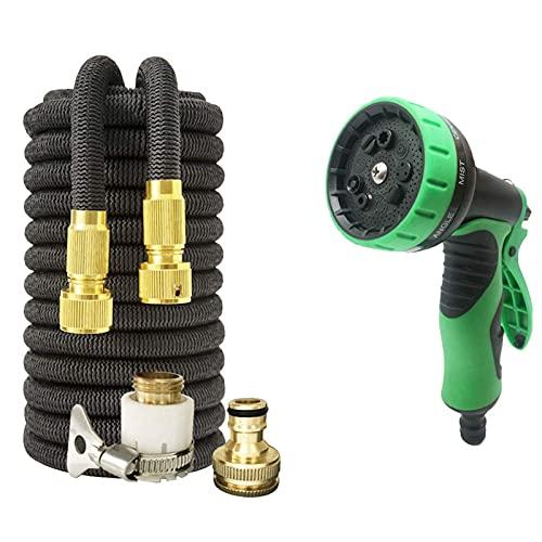 Garden hose 2020 New Car Garden Wash Hose Stretch Expandable Stretchy Garden Hose Extendable Extensible Magic Hose Pipe Flexible (Color : Black, -  GUILAN, 9806460418994