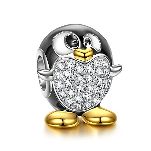 Ninaqueen Pandora Charms Fitted Charm Christmäs Gifts For Women Secret Santa Gifts For Her Penguin Animals 925 Silver Personalised Gifts Jewellery For