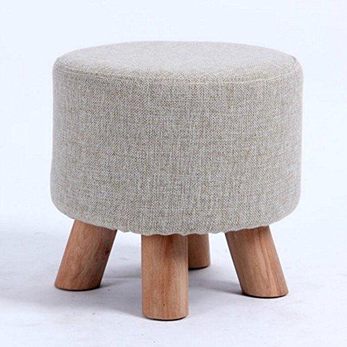 FEIFEI Tabouret en bois massif + lin coton moderne maison tabouret canapé de mode tabouret tabouret pour enfants tabouret cosmétique