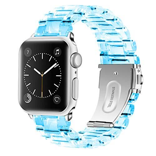 Correas de reloj para Apple Watch 5 Band Hombres Mujeres Muñeca para Iwatch Series 3 4 Bandas Correa Enlace transparente