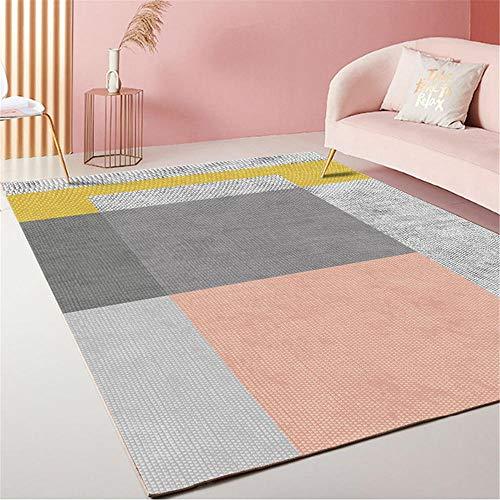 Alfombra Infantiles Alfombra de la habitación de los niños Alfombra Corta Pila Resistente a la Mancha Rectángulo Gris Moderno alfombras Oficina alfombras Grandes 60X90CM 1ft 11.6' X2ft 11.4'