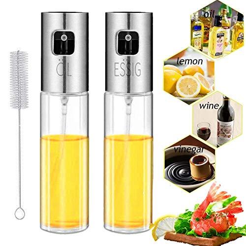 Nifogo Spruzzatore Olio Spray Olio Cucina - Riutilizzabile Bottiglia per Spruzzatore di Olio d oliva per Cucinare, BBQ, Cucina (100ml)