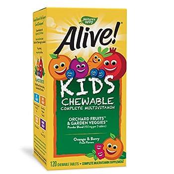 Nature s Way Alive! Children s Premium Chewable Multivitamin Gluten Free 120 Chewable Tablets