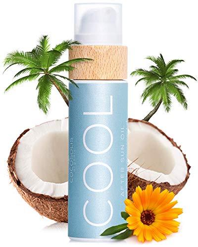 COCOSOLIS COOL Lozione Doposole con Olio di Cocco – Crema Corpo Idratante con Olii Biologici – Prolunga l'Abbronzatura dopo il Mare ed il Lettino Abbronzante (110 ml)