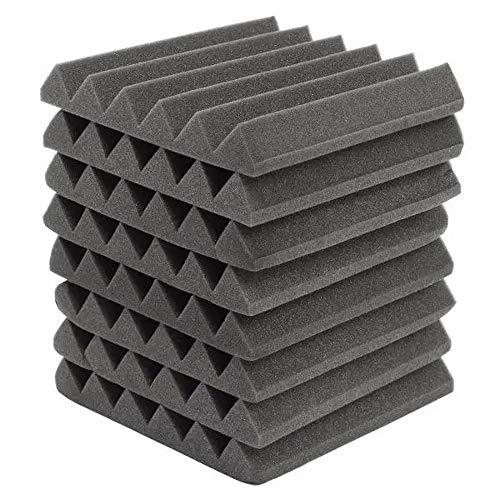 Fengbingl-mu Wände Schallabsorbierende Paneele 8Pcs 305x305x45mm Schallisolierung schallabsorbierenden Lärm Schaum Fliesen (Farbe : Schwarz, Größe : 305x305x45mm)