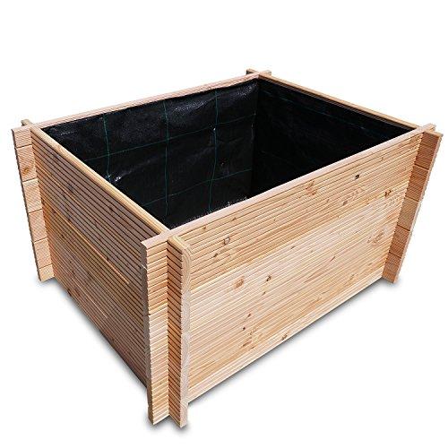 Nordje Hochbeet Bausatz Asta 110x85x58,5cm aus hochwertigem Holz Douglasie