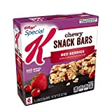 Special K Chewy Snack Bars, Red Berries, with Dried Cranberries, 5.28 oz (6 Count)(Pack of 8)