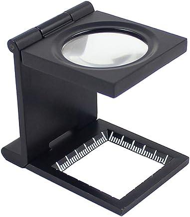 Mini Lente d'Ingrandimento KKmoon Lente Pieghevole in Lega di Zinco mini 10X 28mm con Scala per Strumento di Ingrandimento Pieghevole in Vetro Ottico Tessile