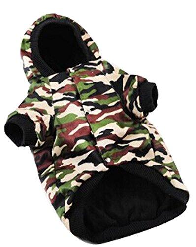 Comfy du chien d'hiver Bataille Fatigues pour animal domestique Vêtements (Taille : 4 x L)