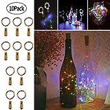 Twinkle Star Wine Bottle Cork Lights Fairy String Lights, 20 LED 6.5 FT Copper String...