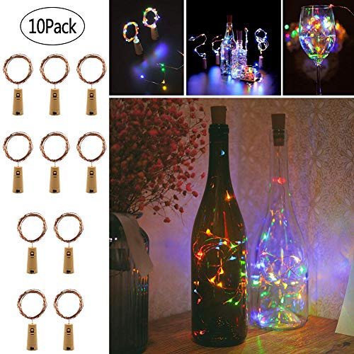 Twinkle Star Wine Bottle Cork Lights Fairy String Lights, 20 LED 6.5 FT Copper String Lights Battery Operated for...