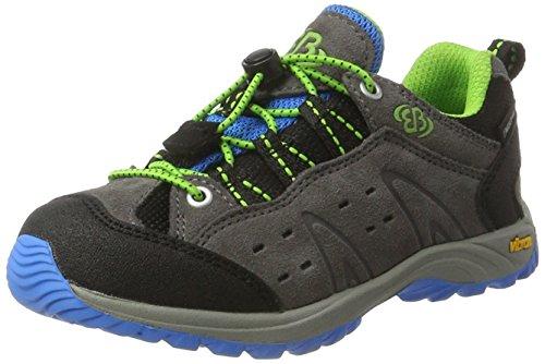 Brütting Mount Bona Low Kids, Chaussures de randonnée garçon, Gris (Grau/blau/lemon), 30 EU