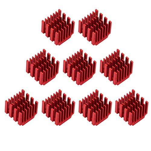 XBaofu 10x Schrittmotortreiber Kühlkörper Kühlblock Kühlkörper for TMC2100 for LV8729 for DRV8825 Heat Sink