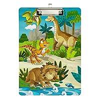 クリップボード A4 クリップファイル クリップホルダ- バインダー 恐竜 きょうりゅう ドラゴン おしゃれ 人気 用箋ばさみ 用箋挟み