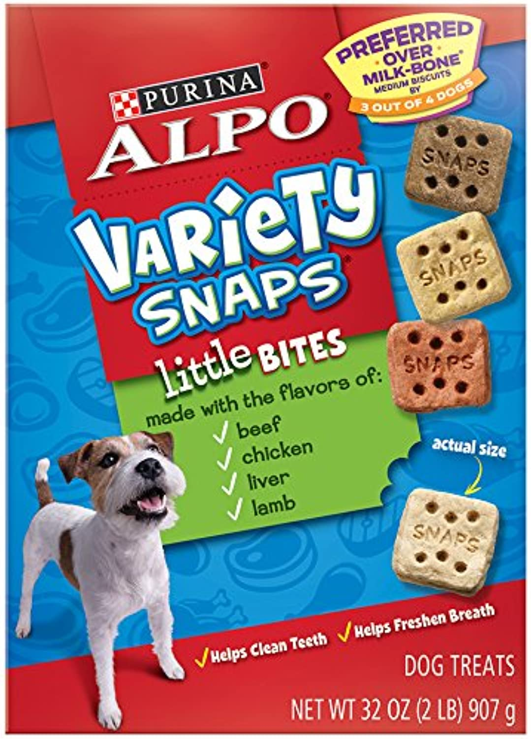 Purina ALPO Variety Snaps Dog Food, 32Ounce (Pack of 5)