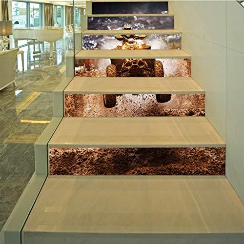 SQINAA Pegatinas 3D para escaleras, Autoadhesivas, extraíbles, Impermeables, para baldosas de escaleras, Adhesivos para baldosas Verticales para decoración de Sala de Estar (7.08 x 39.3 Pulgadas),C
