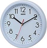 Unity Hastings 22cm 21,8cm Horloge Murale Moderne silencieuse, Plastique, Blanc, 22 x 22 x 5 cm