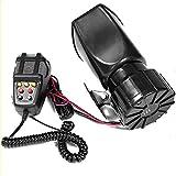 100W 12V 7 sonido fuerte alarma de coche policía sirena de bomberos sistema de micrófono de altavoz PA bocina de motocicleta de coche bocina de sirena de 7 tonos