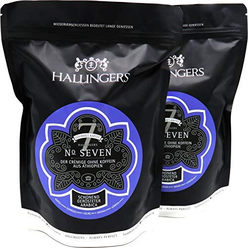 Hallingers Entkoffeinierter Äthiopien-Kaffee, schonend geröstet (1.000g) - No. Seven, Set 2x 500g (Aromabeutel) - zu Passt immer