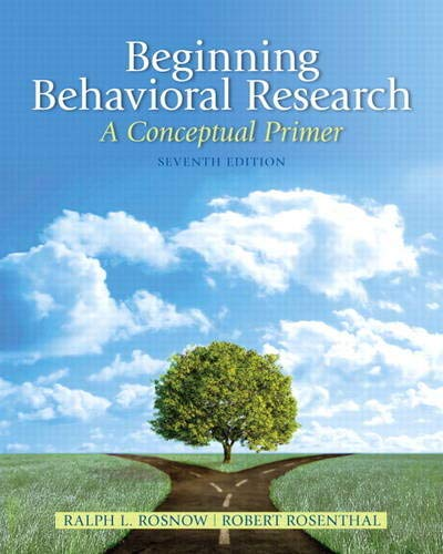 Beginning Behavioral Research: A Conceptual Primer (Mysearchlab)