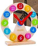 Jaques of London Lernuhr Kinder | Spielzeug ab 2 3 4 5 6 Jahre | Montessori Spielzeug | Holzspielzeug 2 3 4 5 6 Jahre | Kinder Spielzeug Mädchen and Boys | Seit 1795