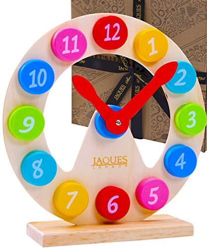 Jaques of London legler lernuhr – Lasst Uns die Lehruhr Lernen – Perfekt lernspielzeug ab 2 3 4 5 6 Jahren seit 1795