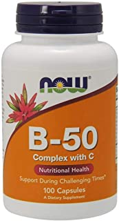 Now Vitamin B-50 Complex With Vitamin C - 100 Capsules