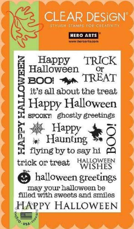 Hero Arts Happy Halloween Greetings 4 x6  Clear Stamp Set CL353 B002W594MG | Erste Gruppe von Kunden